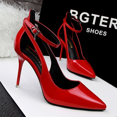 2981-1 the European and American fashion contracted wind shoes high-heeled shoes high heel with shallow mouth pointed on