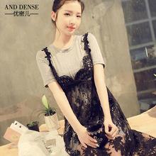 批发孕妇装韩国东大门孕妇裙蕾丝连衣裙单件吊带裙6306