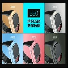 B90蓝牙音箱 手表运动户外音响 新款无线小音箱插卡带液晶显示屏