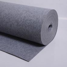供应3MM灰色毛毡布 涤纶针刺毛毡 彩色工艺化纤毛毡布布料
