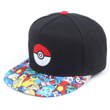 神奇宝贝Pokemon Go口袋妖怪宠物精灵小智嘻哈棒球帽男女动漫帽子