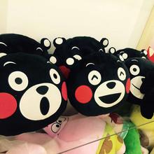 日本原单熊本县吉祥物KUMAMON黑熊毛绒玩具公仔娃娃抱枕 靠垫
