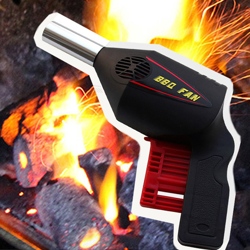 LORDWEY Outdoor Blower Grill Tools Hand Press Manual Blower Portable BBQ Hair Dryer Camping Supplies - intl