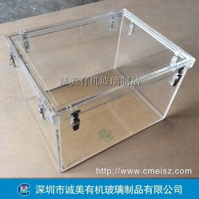 医疗设备有机玻璃盒子 亚克力装水防漏箱 深圳诚美压克力箱体