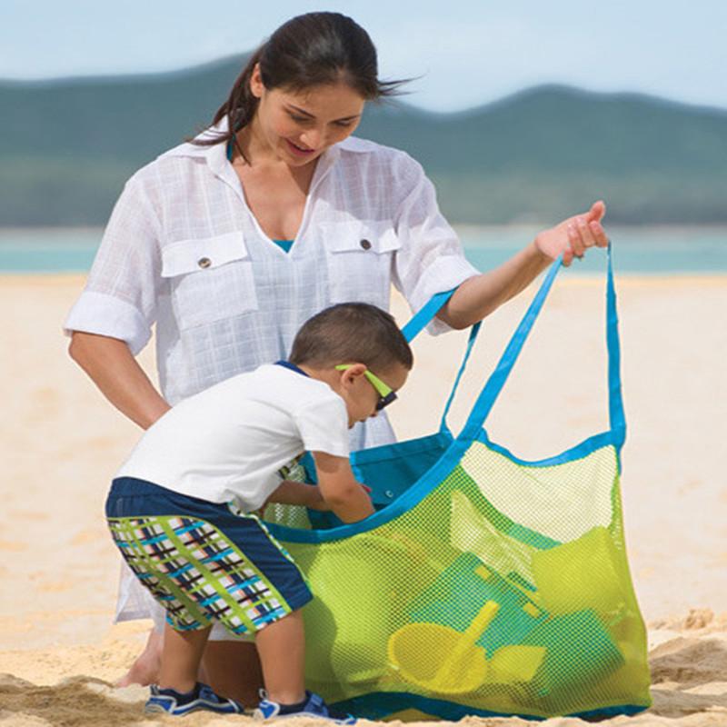 跨境兒童沙灘袋沙灘玩具快速收納袋挖沙工具收納袋沙灘網袋包工廠