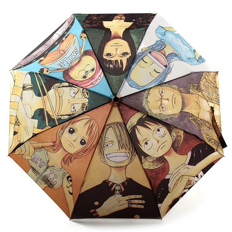 海贼王三折晴雨伞二次元动漫卡通路飞索隆娜美女学生折叠伞男定制