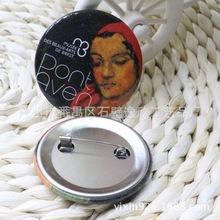 广州厂家直销卡通人物个性可爱铁艺胸章 广告创意马口铁胸章徽章