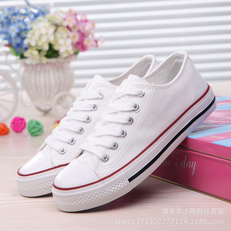 富步厂家直销批发代理基本款帆布鞋低帮浅口女鞋A01常青款