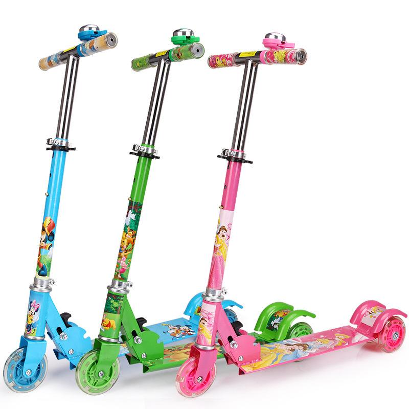 厂家直销三轮儿童滑板车 折叠三轮滑板车蛙式车 批发零售一件代发