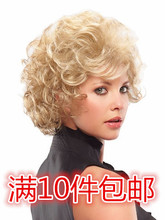 European and American wigs short hair curly blond explosive hair set wig foreign trade wig SW0139