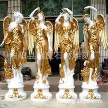 欧式四季女神人物玻璃钢人物雕塑 描金仿铜铸铜 雕塑 西方人雕塑