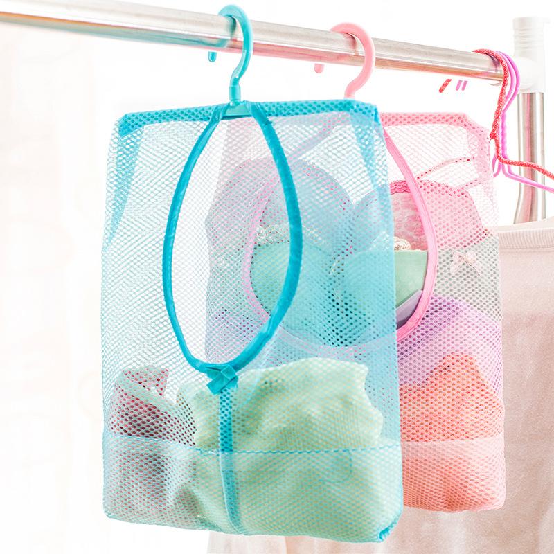 便携可挂式多用途收纳网袋衣柜挂式晒衣夹子网袋厨房浴室多用挂袋