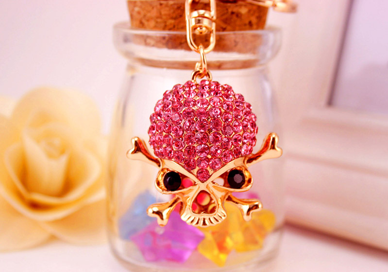 Korean  creative gift keychain death skull color key chain  NHAK267052
