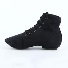 新款高帮舞蹈鞋 透气软底芭蕾舞鞋女 成人帆布爵士舞蹈鞋厂家批发