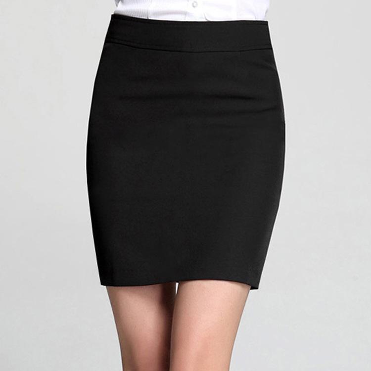2018春夏女装OL半身裙 女式包臀裙无褶短裙 女士职业装半身裙批发