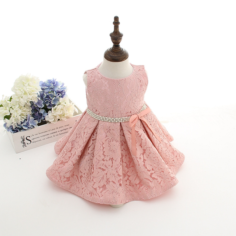 42f0d4ea5817 Newborn Baby Girl Dresses With Diamand Belt Baby Birthday Party ...