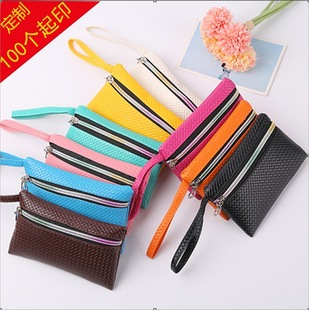Factory leather solid color ladies large coin purse fashion Yiwu stall supply mini bag mobile phone bag wholesale
