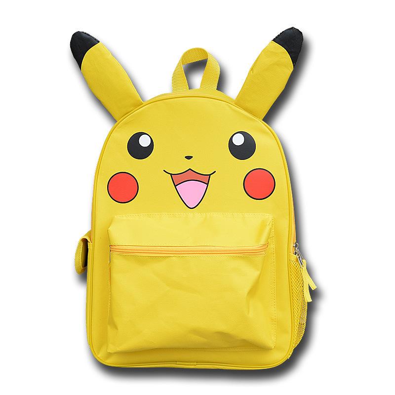 新黄色宠物小精灵神奇宝贝双肩包口袋妖怪男女学生书包皮卡丘背包