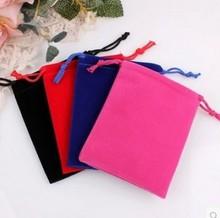 絨布袋現貨首飾品黑色收納束口袋小布袋子禮品手機保護袋可定做