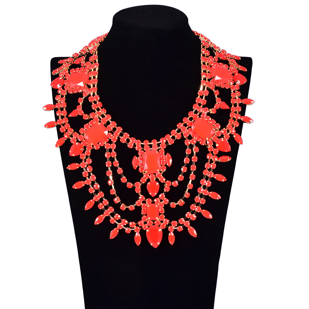 Occident alloy necklace ( red ) NHVA2829