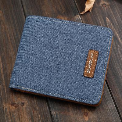 Người đàn ông nóng của ví ngắn sinh viên Nhật Bản và Hàn Quốc phiên bản của vải giản dị ví mặt cắt ngang đơn giản vé triều bán buôn