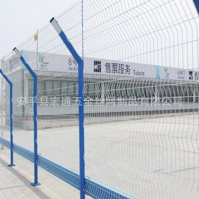 供应花园住宅三角折弯护栏 小区围栏 防爬防盗安全网
