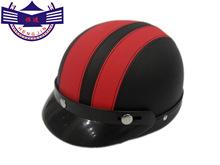 廠家直銷摩托車頭盔電動車韓版哈雷頭盔冬季半盔安全帽男女款皮盔