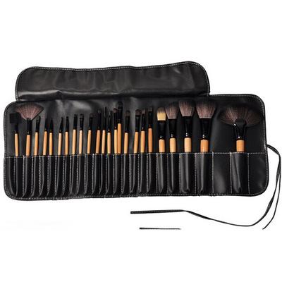 24支原木化妝刷 現貨生產含手袋 熱賣促銷美容工具