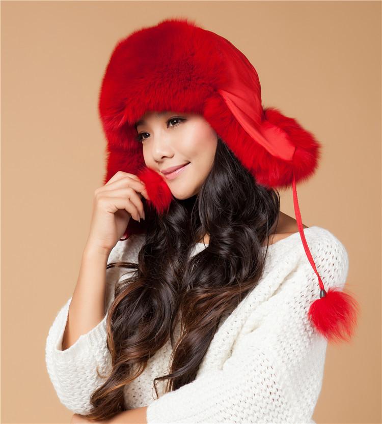 真狐狸毛帽子跨境货源火车头东北雷锋帽冬季保暖女款护耳皮草帽子