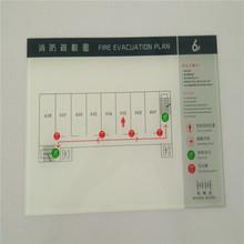 廠家直銷酒店消防疏散圖 賓館逃生示意圖  定制亞克力標識標牌
