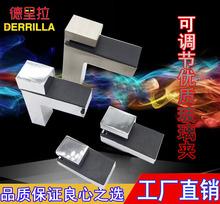 F型可调夹玻璃支架 可调玻璃夹 层板夹木板托 F夹固定夹 层板支架