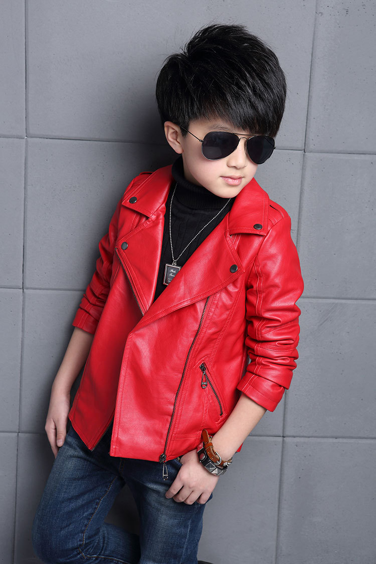 Teenager Boys Leather Jacket Boys Casual Children ...