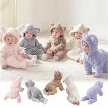ins爆款童裝 歐美拼接連帽紐扣款包腳嬰兒爬服 速賣通寶寶連體衣