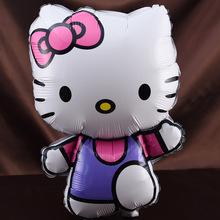 新款hello kitty猫铝膜气球卡通造型铝箔玩具凯蒂猫生日派对装饰