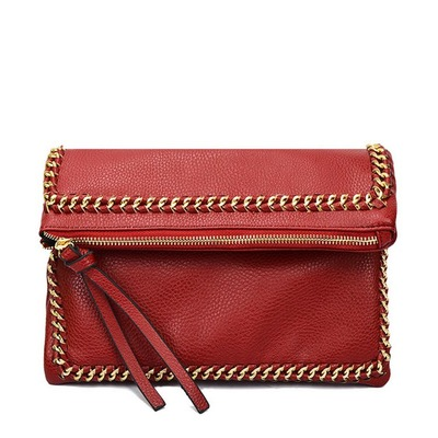 Korean design hardware plait woven bag hand bag trend fashion folding bag's main photo