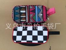 定制印花PVC皮革多功能筆袋韓版雙拉鏈創意學生大容量鉛筆袋多色