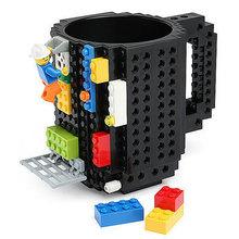 创意LEGO乐高积木杯 拼装杯DIY组装杯咖啡杯马克随手个性减压水杯