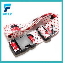 厂家定做5CM行李箱包带 丝印热转印各种图案印刷 涤纶环保材质