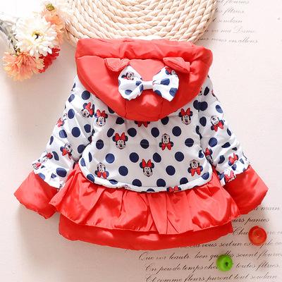 18 mùa đông cô gái bông mới Hàn Quốc dot Mickey nhung áo khoác dày nhà sản xuất áo khoác bán buôn thương mại