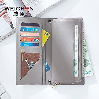 Ví thời trang nữ đoạn dài Nhật Bản và Hàn Quốc phiên bản của đơn giản khóa ví dung lượng lớn dây kéo thẻ ví bán buôn