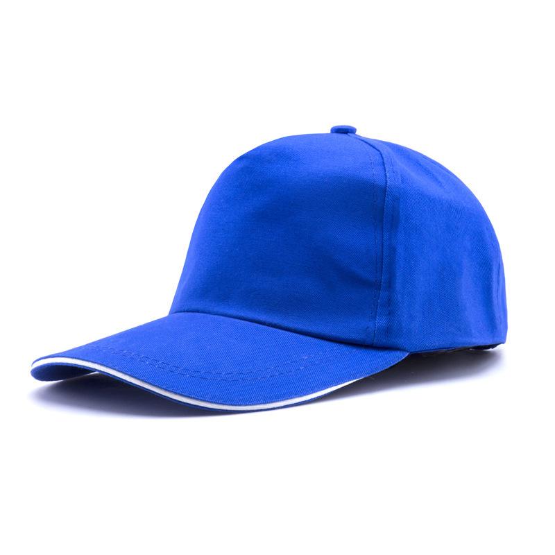 男女通用鸭舌帽可定制 青年志愿者义工帽子 纯色工作帽魔术贴 804