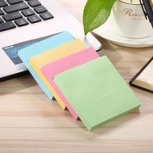 厂家定制彩色纸便签本 76*76方形便利贴 办公即时贴计事本批发