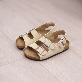Spring and summer children's boys and girls cork sandals, word shoes, flip-flops, beach double ring