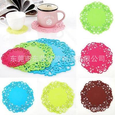 客厅创意杯垫软胶镂空水杯垫杯子垫子碗垫隔热垫茶杯垫防热垫硅胶