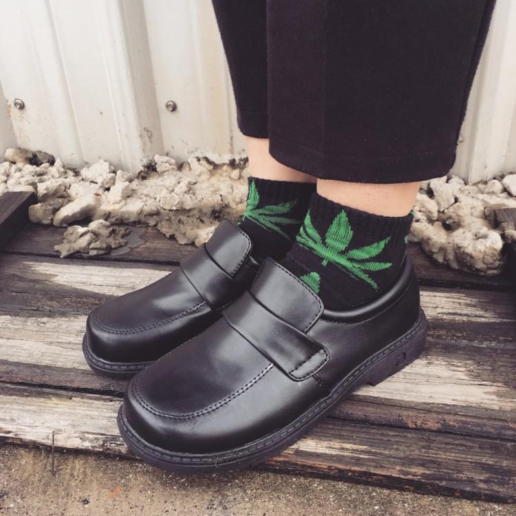 圆头日系鞋制服鞋学院风cos万用黑棕色日本JK女舒适小皮鞋工作