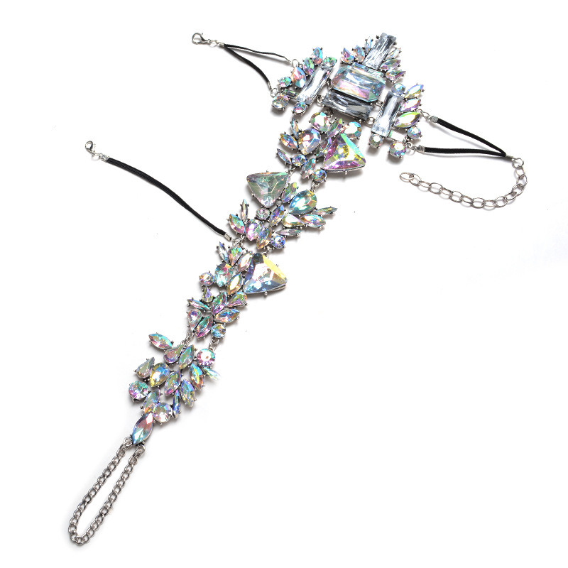 Occident and the United States alloy Diamond bracelet (color)NHYT0453-color