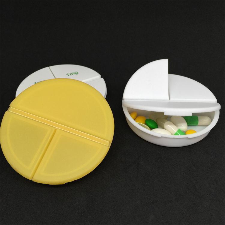 廠家直銷 環保圓形三格藥盒 塑膠PP3格藥盒 首飾盒 BX21