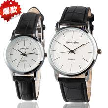 手表定制加工 皮带情侣手表 石英手表批发wristwatches合金手表