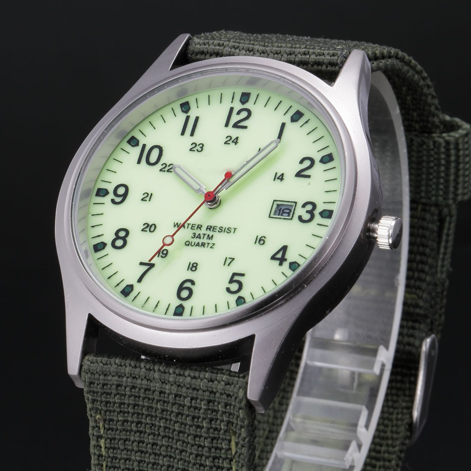 Canvas strap men's watch foreign trade c...