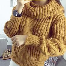 Áo len nữ thời trang, kiểu dáng cổ cao, phong cách trẻ trung
